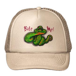 Bite Me! guys hat, snake bite, boyfriend gift