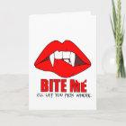 Bite Me Halloween Card