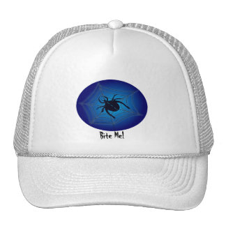 Bite me! halloween spider trucker hats