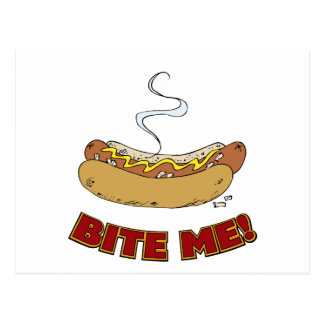 Bite Me - Hot Dog Postcard
