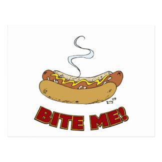 Bite Me - Hot Dog Post Card