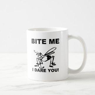 Bite Me I Dare You Funny Mosquito Coffee Mug Cup