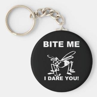 Bite Me I Dare You Funny Mosquito Keychain