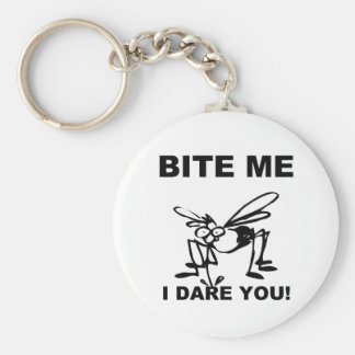 Bite Me I Dare You Funny Mosquito Keychain