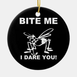 Bite Me I Dare You Funny Mosquito Ornament
