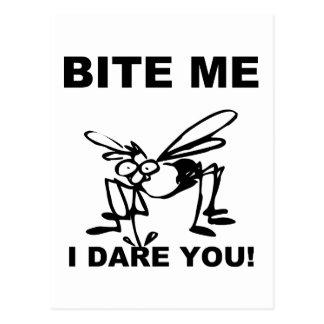 Bite Me I Dare You Funny Mosquito Postcard