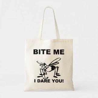 Bite Me I Dare You Funny Mosquito Tote Bag