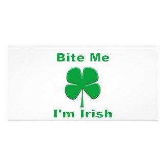 Bite Me I'm Irish Photo Greeting Card