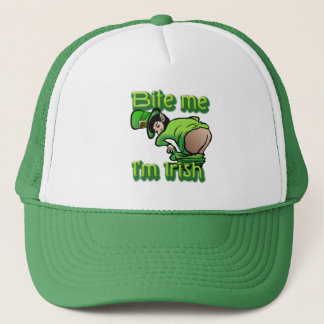 Bite me. I'm Irish. Trucker Hat