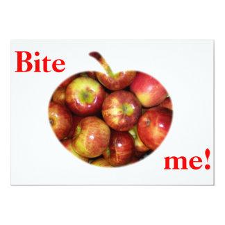 Bite me! 13 cm x 18 cm invitation card