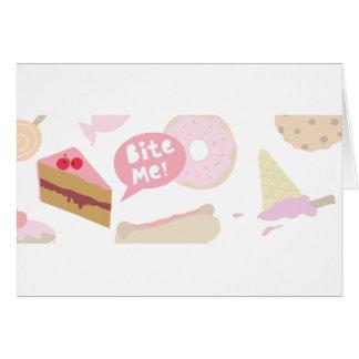 Bite me, Love cake Greeting Card