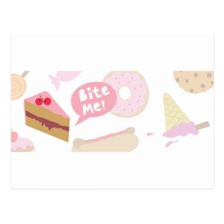 Bite me, Love cake Postcard