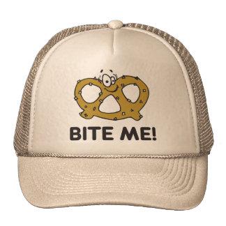 Bite Me Pretzel Gift Mesh Hats