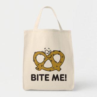 Bite Me Pretzel Gift Tote Bags