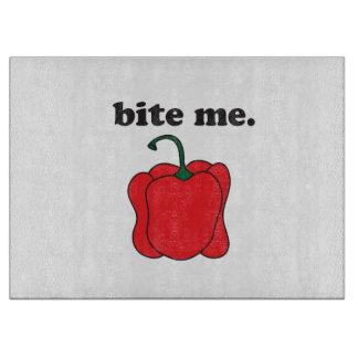 bite me. (red bell pepper) cutting boards