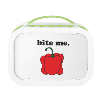bite me. (red bell pepper) lunch box
