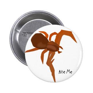 Bite Me Red Spider 6 Cm Round Badge