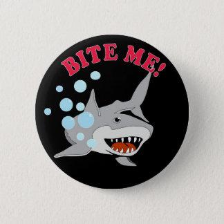 Bite Me Shark 6 Cm Round Badge