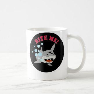 Bite Me Shark Basic White Mug