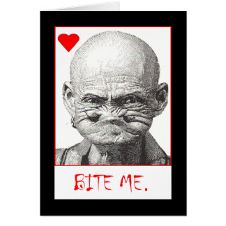 bite me Valentine (or anti-Valentine!) Card