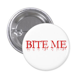 Bite me Vampire 3 Cm Round Badge