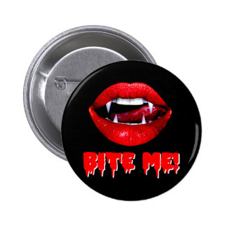 Bite Me Vampire Halloween 6 Cm Round Badge
