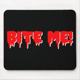 Bite Me Vampire Halloween Mouse Pads