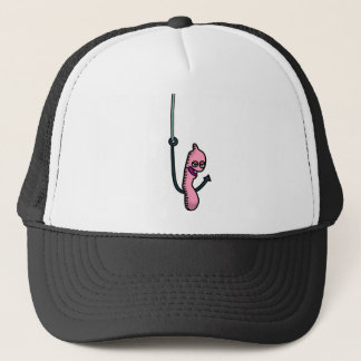 Bite Me! worm Trucker Hat