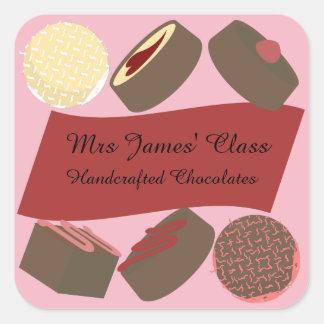 Bite-size Chocolates Square Sticker