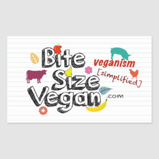 Bite Size Vegan With Tagline Sticker