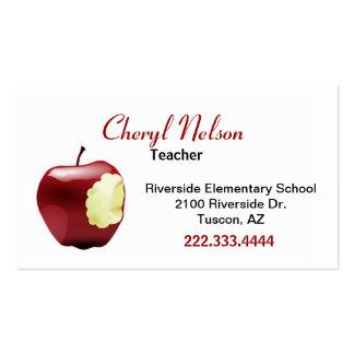 Biten Apple Teacher's Business Card