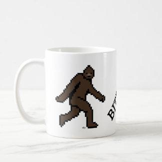 BITFOOT (the 8-bit Bigfoot) Basic White Mug