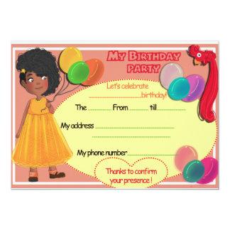 Bithday card 13 cm x 18 cm invitation card