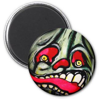 Biting Scream 6 Cm Round Magnet