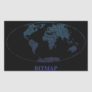Bitmap Rectangular Sticker