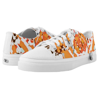 Bits and Pieces of Orange Low Tops