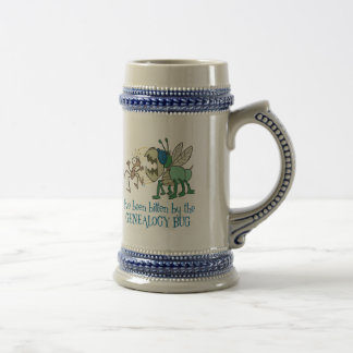 Bitten By The Genealogy Bug Beer Stein