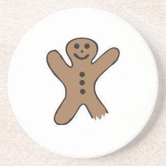 Bitten Gingerbread Beverage Coaster