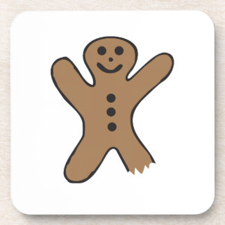 Bitten Gingerbread Drink Coaster