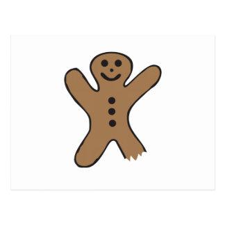 Bitten Gingerbread Postcards