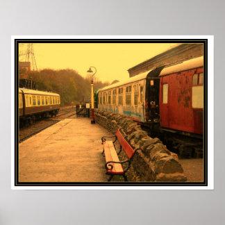 Bitten Railway Somerset. Poster