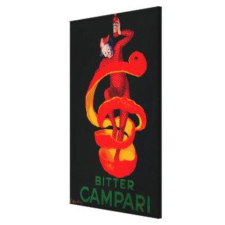 Bitter Campari Vintage PosterEurope Canvas Print