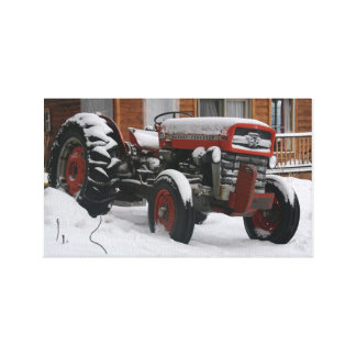 Bitter Old Tractor Canvas Print