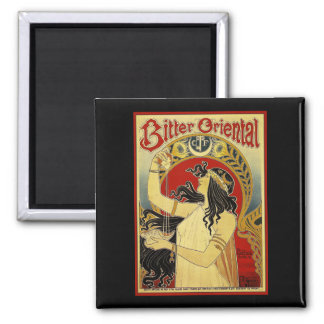 Bitter Oriental Art Nouveau Advertising Magnet