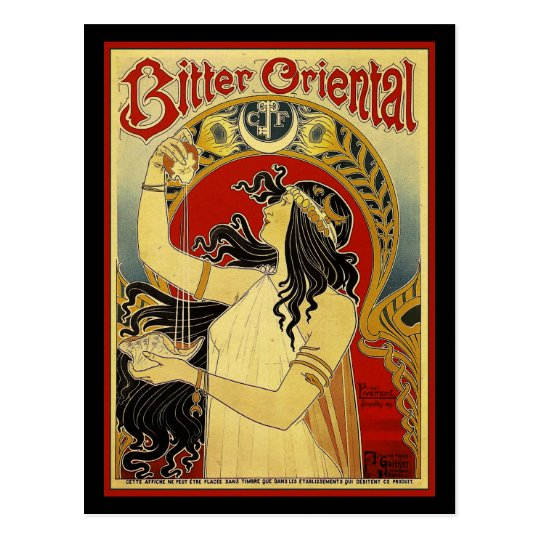 Bitter Oriental Art Nouveau Advertising Postcard