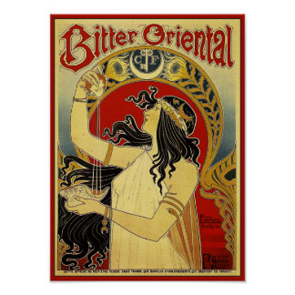 Bitter Oriental Art Nouveau Advertising Poster