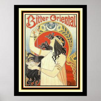 Bitter Oriental Mucha Art Nouveau Poster 16 x 20