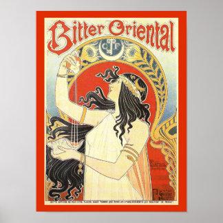 """Bitter Oriental"" Vintage Ad poster"