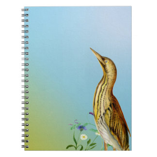 Bittern Bird Painted in Watercolours Note Book