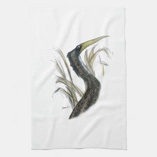 bittern bird, tony fernandes tea towel